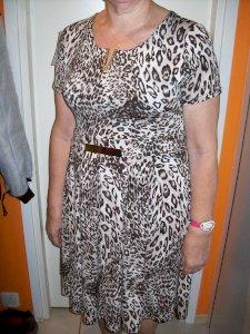 Leopardi mustriga kleit