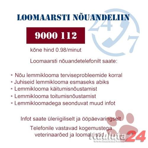 Loomaarsti nõuandeliin 9000112 (0,98 eur/min)